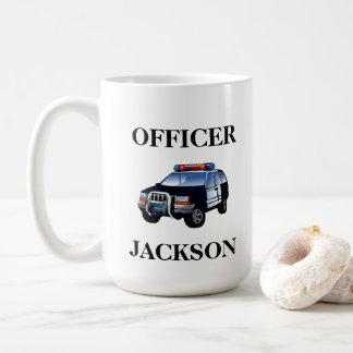 Caneca De Café Oficial personalizado do carro de polícia