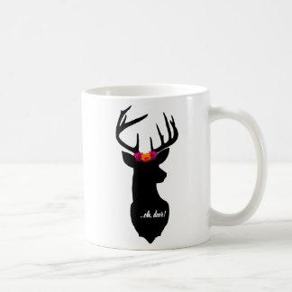 """Caneca De Café """"… oh, cervos! """"Caneca, cervo preto, coroa"""