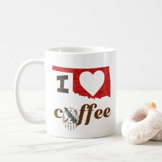 Caneca De Café Oklahoma, eu amo o café