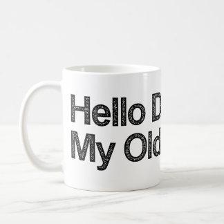 Caneca De Café Olá! escuridão meu velho amigo