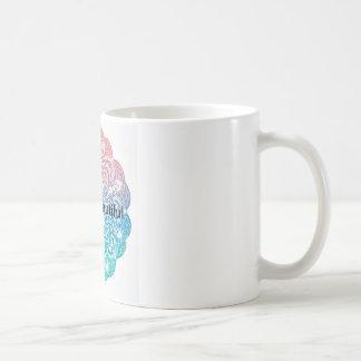 Caneca De Café olá! fundo bonito da mandala