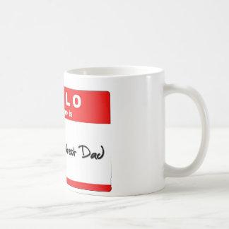 Caneca De Café Olá! meu nome é o grande pai do mundo
