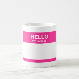 Caneca De Café Olá!, meu nome é Tag