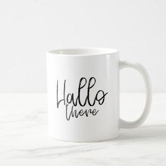 Caneca De Café Olá! palavras lá de fala