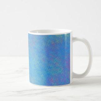 Caneca De Café Olhar bonito do papel marmoreado do azul