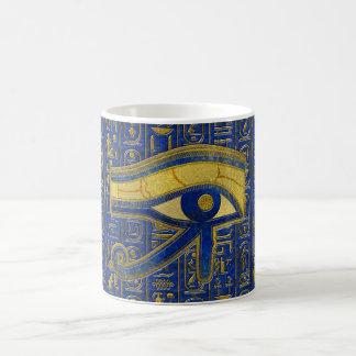 Caneca De Café Olho egípcio do ouro do Lazuli de Horus - de