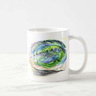 Caneca De Café olmo preto Nova Zelândia Shell de Paua da aguarela