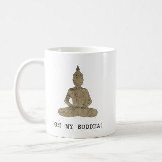 Caneca De Café OMB oh minha silhueta do humor de buddha