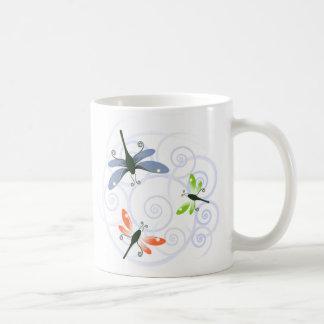 Caneca De Café onda da libélula