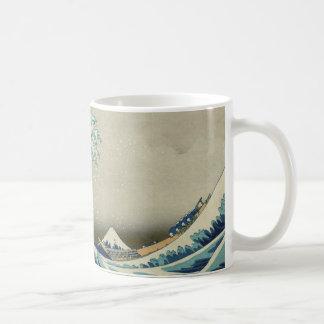 Caneca De Café Onda de Hokusai a grande fora de Kanagawa