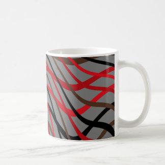 Caneca De Café Onda escura do Weave