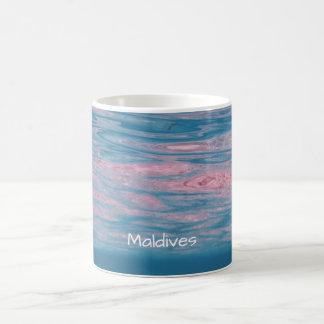 Caneca De Café Ondas de oceano tropicais do verão de Maldives da