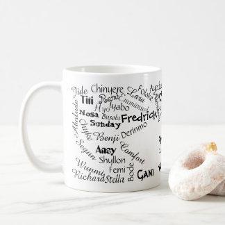 Caneca De Café Onde está meu nome Mug.v5