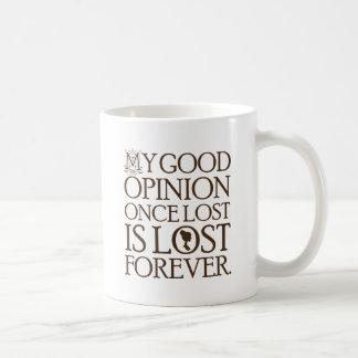 Caneca De Café Opinião das citações de Jane Austen boa