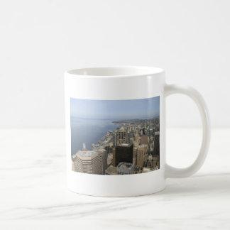 Caneca De Café Opinião de Arial de Seattle