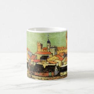 Caneca De Café Opinião de Van Gogh de Saintes Maries, belas artes