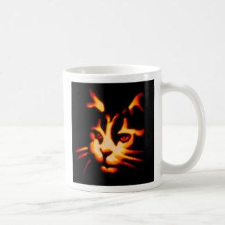 Caneca De Café Opinião do laser um gato do Dia das Bruxas