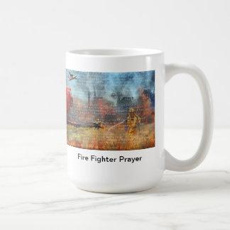 Caneca De Café Oração do sapador-bombeiro