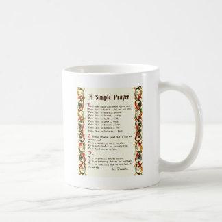 Caneca De Café oração simples por St Francis de Assisi