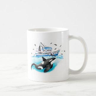 Caneca De Café Orca e o barco