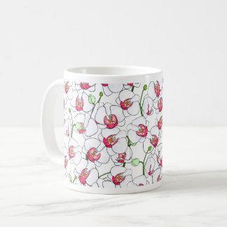 Caneca De Café Orchids. brancos
