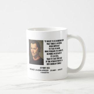 Caneca De Café Ordem nova de Niccolo Machiavelli de citações das