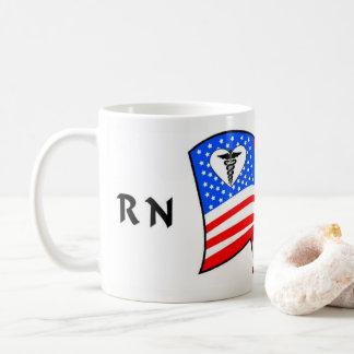 Caneca De Café Orgulho do RN EUA da enfermeira
