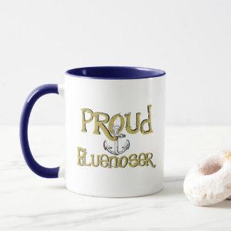 Caneca de café orgulhosa da âncora de Bluenoser