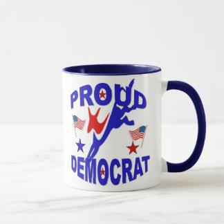 Caneca de café orgulhosa de Democrata