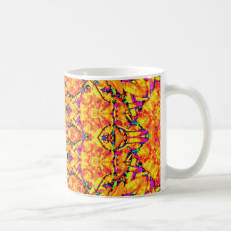 Caneca De Café Ornamentado vibrante colorido
