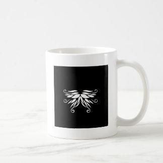 Caneca De Café Ornamento brancos pretos do Nordic de Sibéria