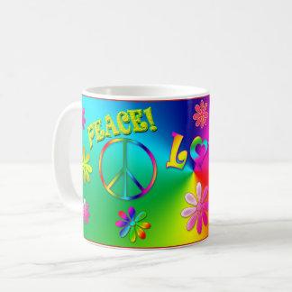 Caneca De Café Os anos 60 do Hippie agridem -