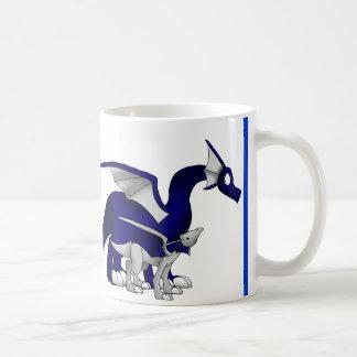 Caneca De Café Os azuis marinhos/dragões de prata da mãe e da