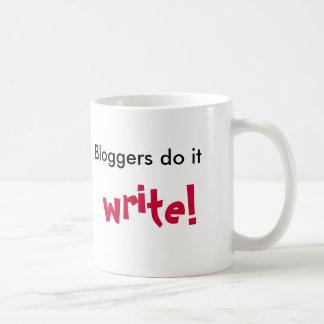 Caneca De Café Os Bloggers fazem-no, escrevem! ,