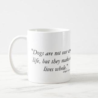 Caneca De Café Os cães fazem nossas vidas inteiras - Weimaraner