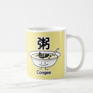 Caneca De Café Os chineses da bacia do gruel do papa de aveia do