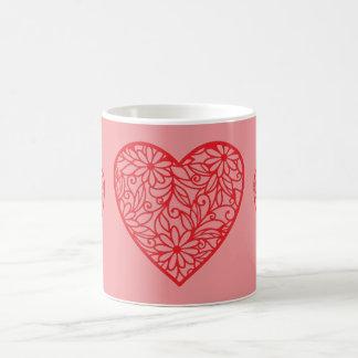 Caneca De Café Os corações dos namorados