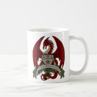 Caneca De Café Os dragões de Stonefire Crest (dragão vermelho) a