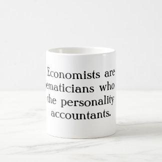 Caneca De Café Os economistas são os matemáticos que não têm o
