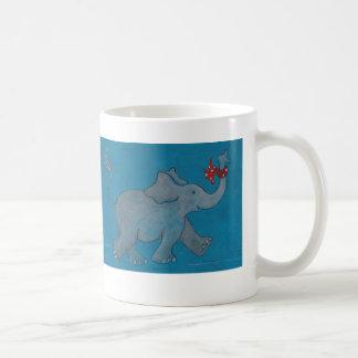 Caneca De Café Os elefantes nunca esquecem (a turquesa)