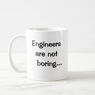 Caneca De Café Os engenheiros não estão furando - citações