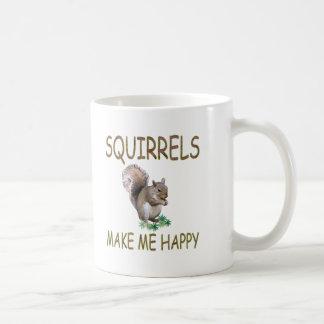 Caneca De Café Os esquilos fazem-me feliz