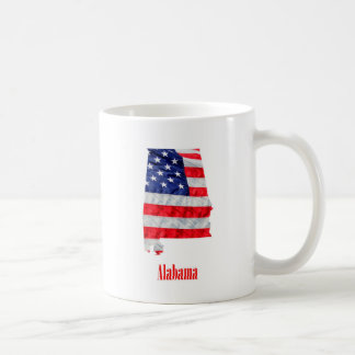 Caneca De Café Os Estados Unidos de Alabama da bandeira americana