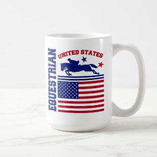 Caneca De Café Os Estados Unidos equestres