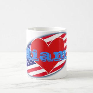 Caneca De Café Os EUA embandeiram o amor Miami de I