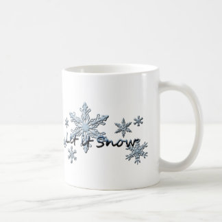 Caneca De Café Os flocos de neve do inverno deixaram-no nevar