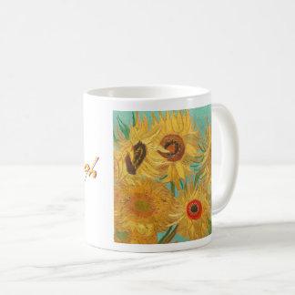 Caneca De Café Os girassóis de Van Gogh