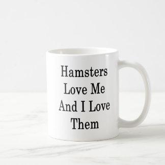 Caneca De Café Os hamster amam-me e eu amo-os