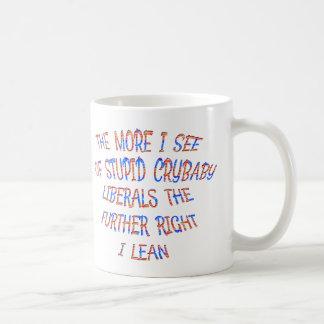 Caneca De Café Os liberais do Crybaby fazem-me o direito magro