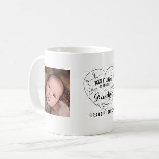 Caneca De Café Os melhores pais obtêm promovidos à foto do vovô |
